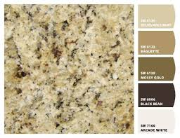 what color cabinets go with venetian gold granite paint colors by sherwin williams granite is new venetian