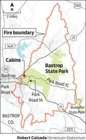 bastrop state park map bastrop complex diagram overlays a burn severity satellite