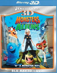 monsters aliens 3d 2 discs 3d blu ray dvd enhanced