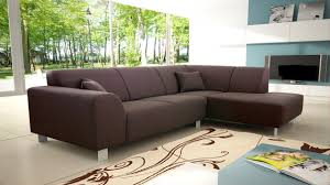 Modern Corner Sofas Modern Brown Fabric Corner Sofa Homegenies