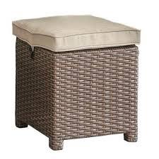 Patio Ottoman Wicker And Linen Patio Ottoman Arcadia Rc Willey Furniture Store