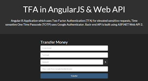 angularjs tutorial with web api two factor authentication in asp net web api angularjs using