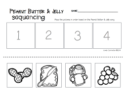 peanut butter u0026 jelly song and sequencing peanut butter butter