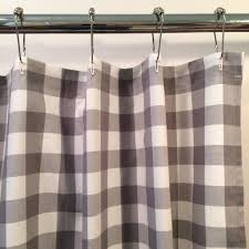 Check Shower Curtain Buffalo Check Shower Curtain Gray And White Southern Ticking Co