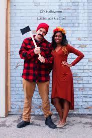 diy halloween couples costume lumberjack u0026 a tree fish u0026 bull