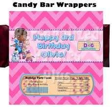doc mcstuffins wrapping paper mcstuffins candy bar wrappers