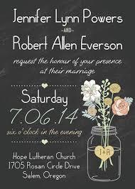 Wedding Invatations Boho Rustic Wedding Invitations Mason Jars Heart Chalkboard Ewi369