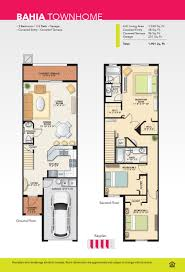 Townhome Floor Plan by Bahia Townhome For Sale In Lauderdale Lakes Bella Vista