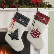 personalized paw cat paw and snowflake christmas stockings