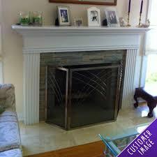 3 fold satin nickel fireplace screen northline express