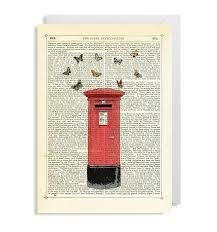 air mail greeting card by marion mcconaghie lagom design