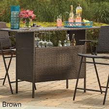 Patio Buffet Server by Outdoor Bar Wicker Storage Table Patio Drink Server Wine Liquor