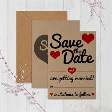 vintage hearts save the date cards pack of 20