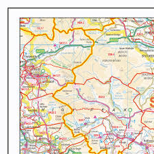 Derbyshire England Map by Postcode Sector Map S11 Lincolnshire And Derbyshire Wall