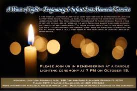 Infant Loss Candles October 15th Pregnancy U0026 Infant Loss Memorial Service Angel Of