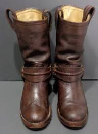womens biker boots size 9 frye 77050 cus banana leather motorcycle boots s size 9
