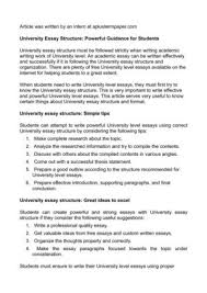 Essay Format University Level | calaméo university essay structure powerful guidance for students