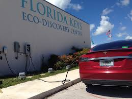 tesla charging electric car charging station installed at noaa u0027s florida keys eco