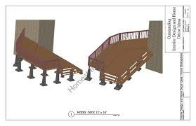 2 level deck plan blueprint free pdf download