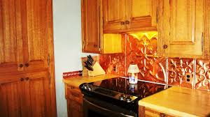 Copper Kitchen Backsplash Kitchen Terrific L Shape Kitchen Decoration With Blue Flower Tile