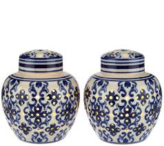 set of 2 illuminated porcelain ginger jars by valerie page 1