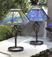 outdoor patio table lights tiffany style solar outdoor table accent l solar lighting