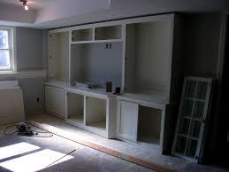 media room built in cabinets