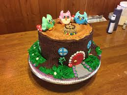 owl themed birthday cake cakecentral com