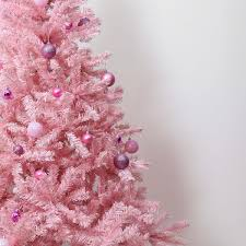 7ft Artificial Christmas Tree With Lights by Pink Artificial Christmas Tree