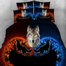 Sexy Bed Set by Aliexpress Com Buy 3d Galaxy Sexy Wolf Duvet Cover Black Bedding
