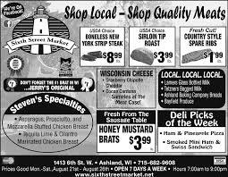 shop local stop quality meats sixth street market ashland wi