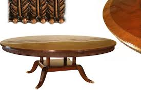 large 84 inch round mahogany dining room table seats 10 banded mahogany dining table 3 inch banded border with black and white inlay