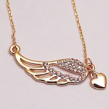 gold wings necklace images Gold heart angel wings pendant necklace madtrendy jpg