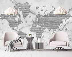 world map removable wallpaper peel and stick map wall sticker