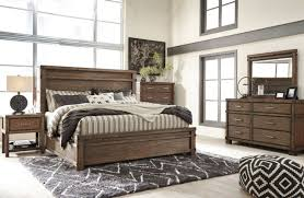 Panel Bed Frame Furniture B614 Leystone Modern Or King Panel Bed