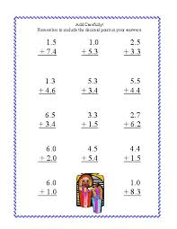 free worksheets worksheet on adding and subtracting decimals