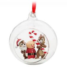 chip n dale glass globe sketchbook ornament disney 2017 disney