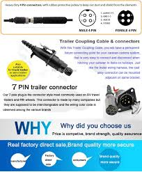 7 pin trailer camera video cable trailer parts with best trailer
