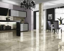 gorgeous porcelain tile flooring ideas for simple kitchen with bar