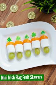 mini irish flag fruit skewers for st patrick u0027s day finding zest