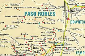 paso robles winery map map of paso robles wineries living enthusiast living