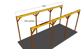 Carport Construction Plans How To Build A Wooden Carport Howtospecialist How To Build