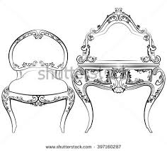 classic royal furniture set luxurious ornaments stock vector