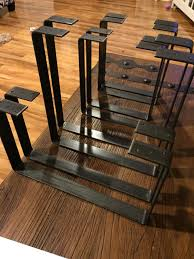 handcrafted forged rustic reclaimed metal coffee table legs steel