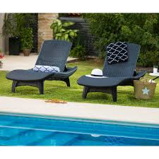 Chaise Outdoor Lounge Chairs Keter Rattan Chaise Patio Lounge Brown Chair Pool Outdoor