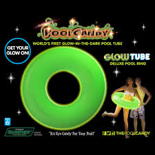 glowtube world u0027s first glow in the dark pool float inner tube