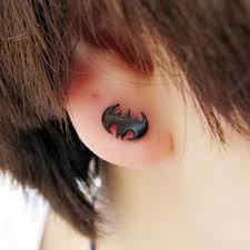 mens black stud earrings batman titanium steel black stud earrings men earrings for men