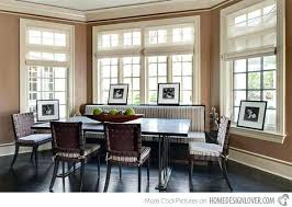 window treatment for bay windows dining room windows dining room traditional with kitchen window