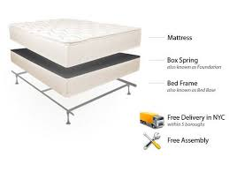 pillowtop mattress set bed frame u0026 delivery set up in nyc