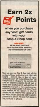 gas gift card deals free fuel points at stop shop with new visa gift card deal